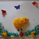 Весенняя объемная композиция«Цыпленок»