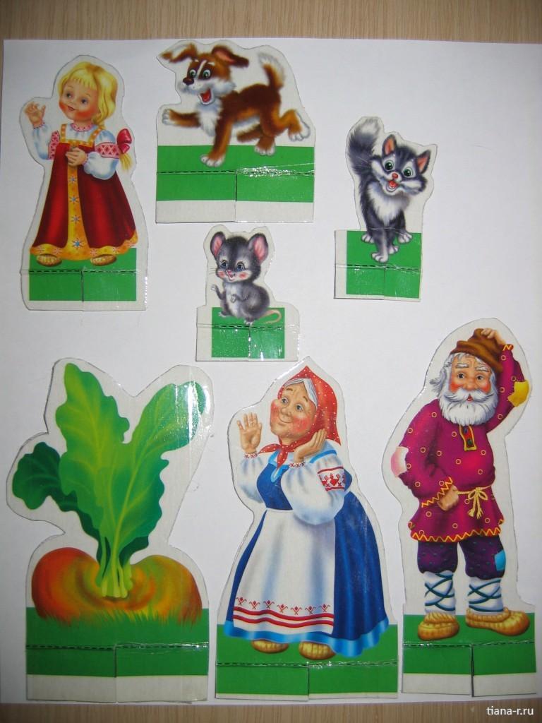 персонажи сказки колобок в картинках отдельно