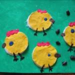 Аппликация «Цыплята наполянке»