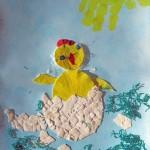 Цыпленок из яичнойскорлупы