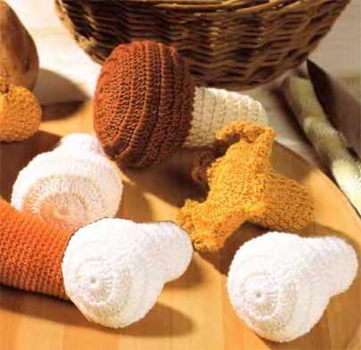 Описание вязания: белый гриб,