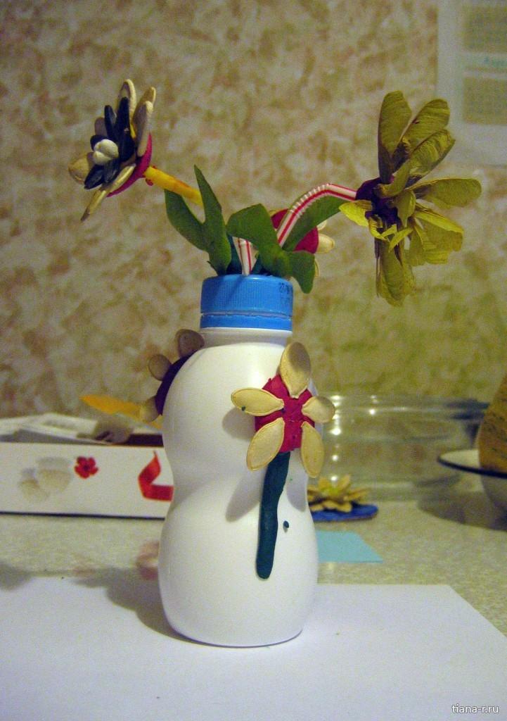 Поделки из пластиковых бутылок для туалетной бумаги 20