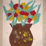 Аппликация «Ваза сцветами»