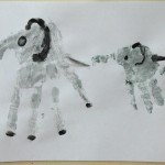 Рисунок ладошкой «Мама длямамонтенка»