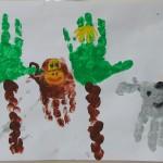 Пальчиковая картина «Африка, милая Африка!»