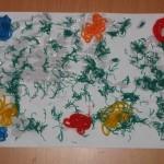 Аппликация из ниток «Цветочнаяполянка»