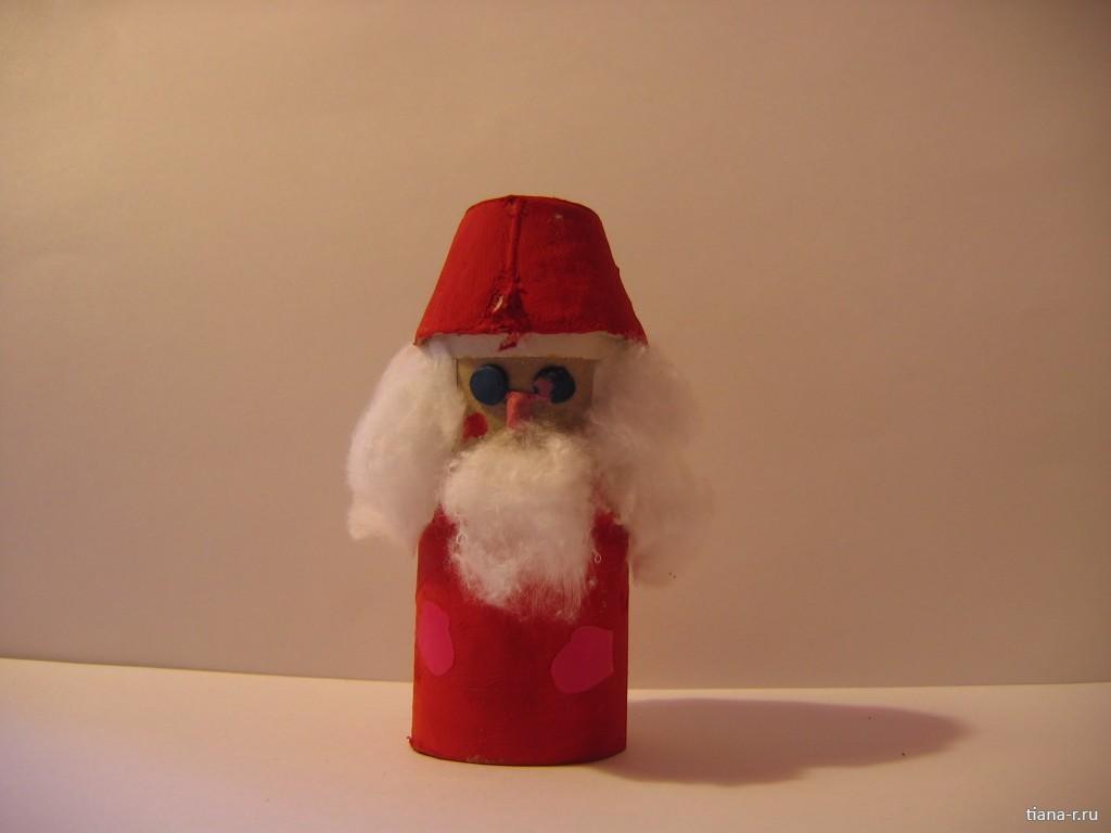 Дед мороз цилиндр поделка