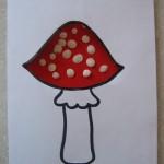 Картина «Мухомор» с помощьютрафарета