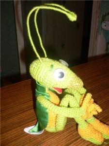 Игрушка Вязание крючком: Вязанный Кузя Пряжа.  Фото 1.