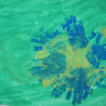 Рисунок ладошками«Василек»