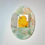 Пасхальная открытка «Мраморное яйцо сцыпленком»