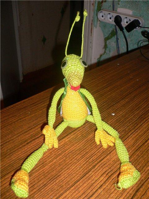 Кузнечик кузя игрушка своими руками