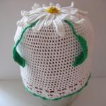 Летняя шапочка для дочки«Ромашка»