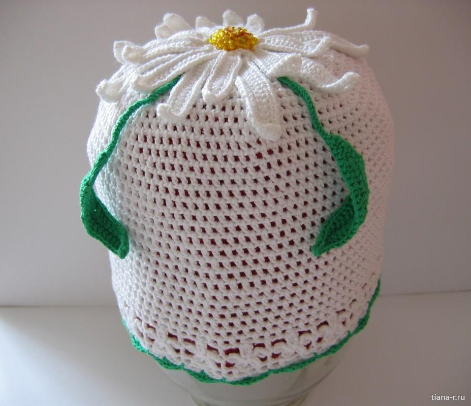 Летняя шапочка для дочки «