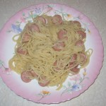 «Дикобразные макароны»или спагетти всосисках