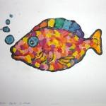 Пластилиновая картина«Рыбка»