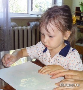 """Картина из песка """"Бабочка"""""""