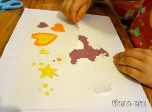 """Картина из песка """"Фея"""""""