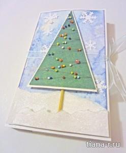 Новогодняя шоколадница с елочкой из бисера + МК по елочке из бисера