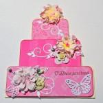 Открытка коДню рождения для девочки«Тортик»